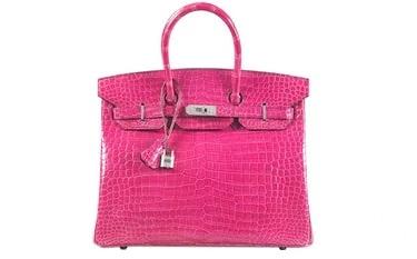 Hermes Fuchsia Diamond-Encrusted Crocodile Skin Birkin Bag.jpg